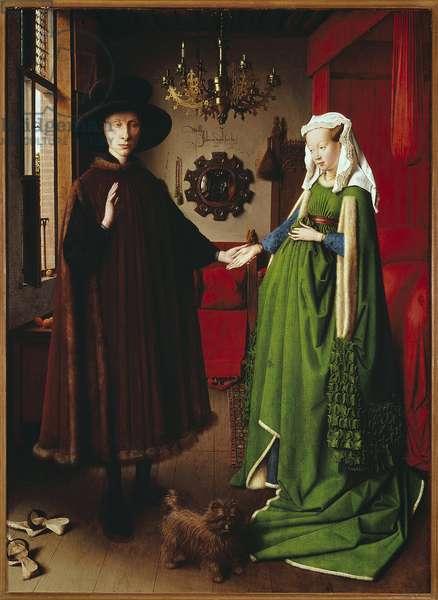 The Arnolfini spools. Painting by Jan Van Eyck (1390-1441). 1434. Oil on canvas 0.81x0.59m. London, National Gallery.