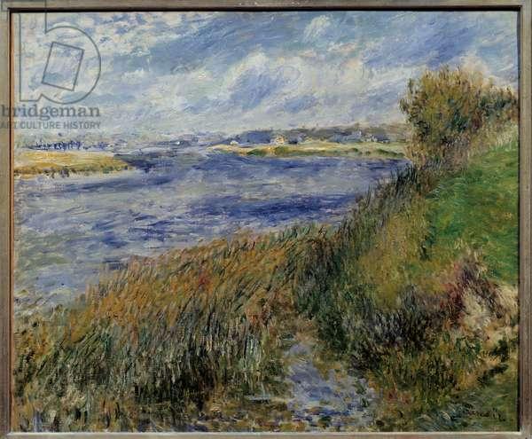 La seine a Champrosay. Painting by Pierre Auguste Renoir (1841-1919), 1876. Oil on canvas. Dim: 0.55 x 0.66m. Paris. Orsay Museum