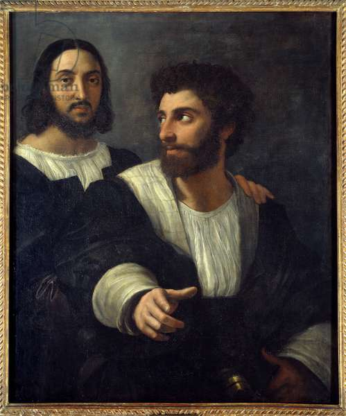Portrait of the artist with a friend. Raffaello Sanzio dit Raphael (1483-1520), 15th century. Oil on canvas. Dim: 0,99 x 0,83m.