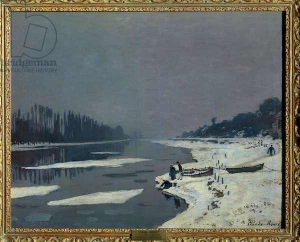 Glacons sur la Seine a Bougival, Yvelines Painting by Claude Monet (1840-1926) Dim 0,65 x 0,81 m Paris musee du Louvre Mandatory mention: Donation Helene et Victor Lyon, 1961