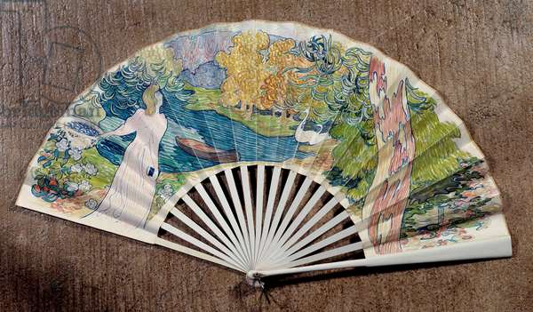 Engagement fan, decorated by Maurice Denis (1870-1943) 1891