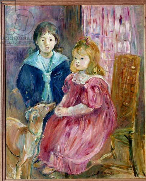 Portrait of the Children of Gabriel Thomas Painting by Berthe Morisot (1841-1895) 1894 Sun. 1x0,81 m Paris, musee d'Orsay
