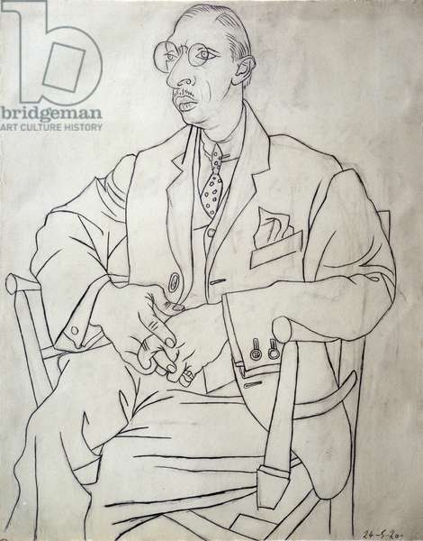 Portrait of the Russian composer Igor Stravinsky (Stravinski, 1882-1971) Drawing a lead mine and charcoal by Pablo Picasso (1881-1973) 24/05/1920 Sun. 0,61 x 0,48 m Paris, Musee Picasso