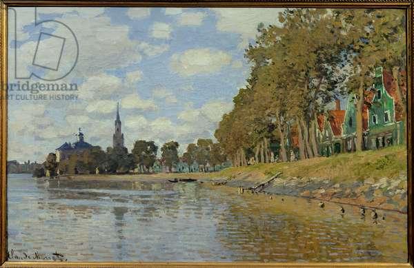Zaandam. 1871. (0.48 x 0.73 cm) Dutch landscape. Oil On Canvas by Claude Monet (1840-1926). Musee d'Orsay.