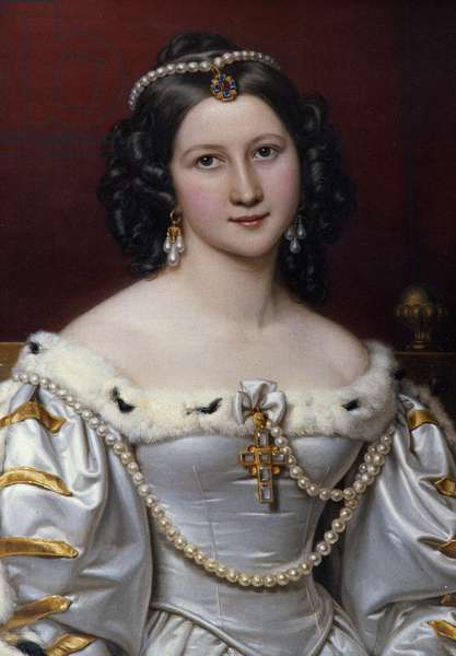 Portrait of Charlotte Painting by Joseph Karl Stieler (1781-1858), 1828 Munich. Chateau De Nymphenburg