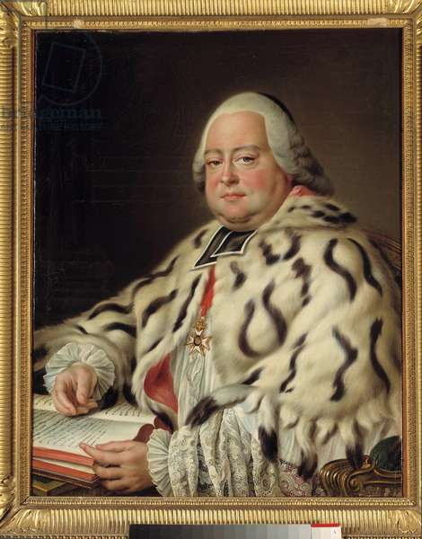 Portrait of Francois Camille de Lorraine, Knight of Malta (1726-1788) Abbe of Saint Victor of Marseille, Grand Dean of the Chapter of the Cathedral of Strasbourg Painting by Francois Hubert Drouais (1727-1775) 18th century. Dim. 0.79 x 0.64 m. Versailles, musee du Chateau - Portrait of Camille Francois de Lorraine, Knight of Malta (1726-1788) Abbot of Saint Victor de Marseille, great dean of the chapter of the cathedral of Strasbourg. Painting by Francois Hubert Drouais (1727-1775), 18th century. 0.79 x 0.64 m. Castle Museum, Versailles
