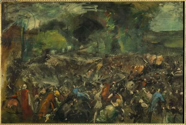 The Attack of Antonin Berezowski on Tsar Alexander 2 on June 6, 1867 (oil on canvas 1.30 x 1.95)