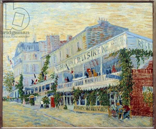 Le restaurant de la Sirene a Asnieres Painting by Vincent van Gogh (1853-1890) 1887 Sun. 0,54 x 0,65 m Paris, musee d'Orsay - The Restaurant de la Sirene at Asnieres. Painting by Vincent van Gogh (1853-1890), 1887. 0.54 x 0.65 m. Orsay Museum, Paris