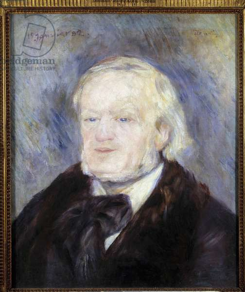 Portrait of Richard Wagner (1813 - 1883). Painting by Pierre Auguste Renoir (1841-1919), 19th century. Oil on canvas. Dim: 0.53 x 0.46m. Paris, Musee d'Orsay