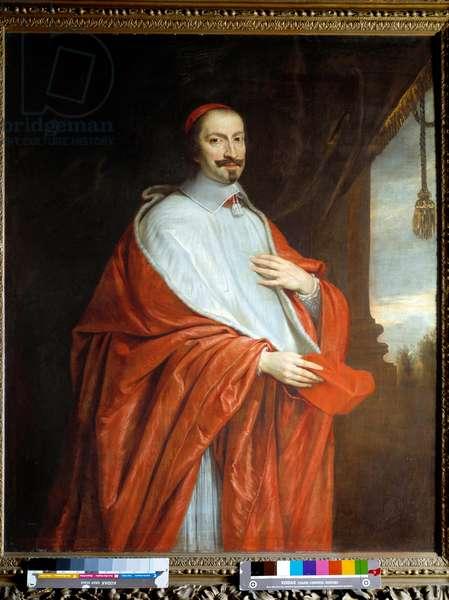 Portrait of Cardinal Jules Mazarin (Giulio Raimondo Mazzarino or Mazarino) (1602-1661). Painting by Philippe De Champaigne (1602-1674), 17th century. Oil on canvas. Dim: 1,40 x 1,17m.  - Portrait of the Cardinal Jules Mazarin (Giulio Raimondo Mazzarino or Mazarino) (1602-1661). Painting by Philippe De Champaigne (1602-1674), 17th century. Oil on canvas. 1.40 x 1.17 m.