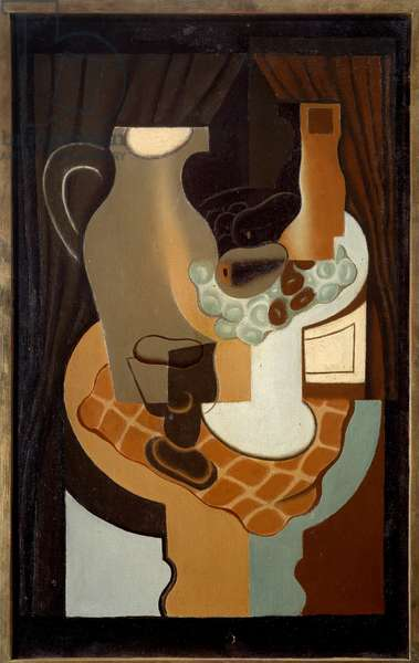 Broc and compotter. Painting by Juan Gris (1887-1927), 1921. Oil on canvas. Dim: 0.61 X 0.36m. Paris, Musee National D Art Moderne