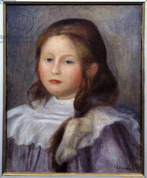 Child Portrait Painting by Pierre Auguste Renoir (1841-1919) 1912 Sun. 0,41x0,33 m Paris, Musee Picasso