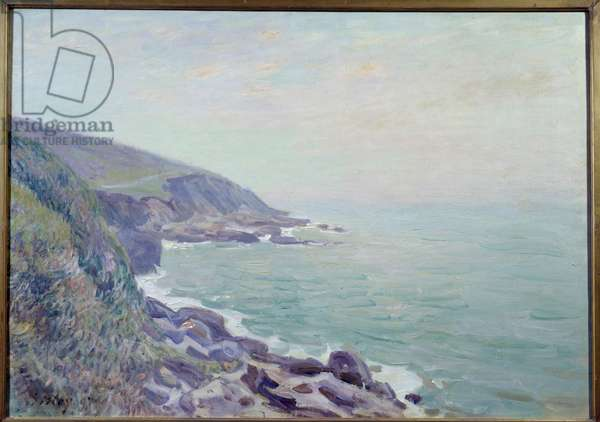 View of the Coasts of Wales in the Mist Painting by Alfred Sisley (1839-1899) 1897 Sun. 0,65x0,92 m Rouen, Museum of Fine Arts