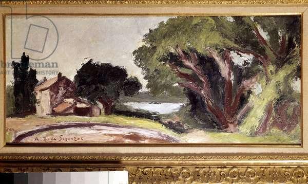 La ferme à l'Aire à saint Tropez Painting by Andre Dunoyer de Segonzac (1884-1974) 1925 Sun. 0,35x0,78 m Paris, musee national d'art moderne