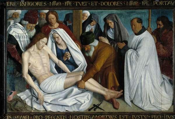 La Pieta de Nouans les Fontaines Painting by Jean Fouquet (1421-1481), 15th century. Nouans, parish church