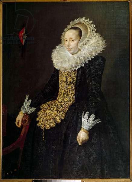 Portrait of Catherine Both van der Een, third wife by Paulus van Beresteyn Painting by Frans Hals l'Ancien (1581/1585-1666) (ec.holl.) 1629 Sun. 1,39x1,02 m