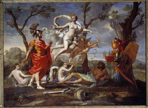 Venus Armant Enee Painting by Nicolas Poussin (1594-1665) 1639 Sun. 1,07x1,46 m Rouen, Musee des Beaux Arts