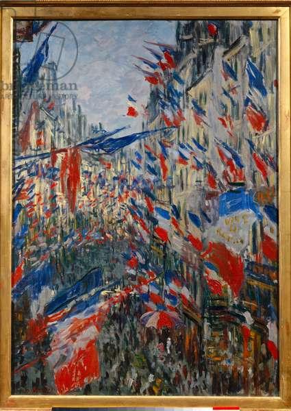 La Rue Saint-Denis (Saint Denis) in Paris, feast 30 June 1878. Painting by Claude Monet (1840-1926), 1879. Oil on canvas. Dim: 0,76 x 0,52m. Rouen, Museum of Fine Arts