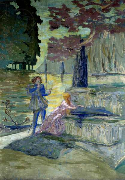 Pelleas et Melisande Illustration for the opera by Claude Debussy (1862-1918) of the same name. Painting by Edouard Vuillard (1868-1940) 20th century Paris, Comedy of the Champs Elysees