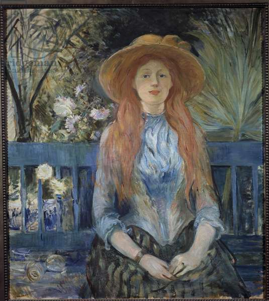 Young girl in a park Painting by Berthe Morisot (1841-1895) 19th century Sun. 0,81x0,9 m Toulouse, Musee des Augustins