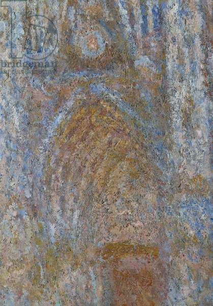 The cathedrale de Rouen, the portal sun morning, blue harmony Detail. Painting by Claude Monet (1840-1926) 1893 Sun. 0,91 x 0,63 m Paris, musee d'Orsay