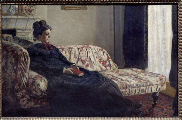 Meditation or Madame Monet at the canape Painting by Claude Monet (1840-1926) 1871 Sun. 0,48x0,75 m Paris, musee d'Orsay