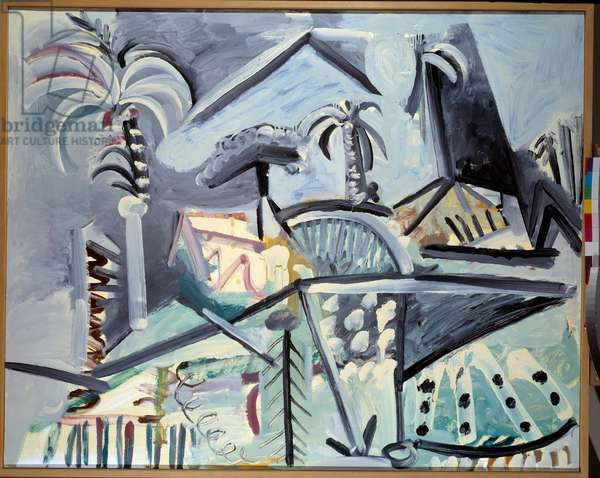 Landscape. Painting by Pablo Picasso (1881-1973), 1972. Oil on canvas. Dim: 1,30 x 1,62m. Paris, Musee Picasso