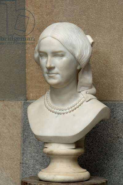 Marble bust of Madame Jules Cavelier in 1852