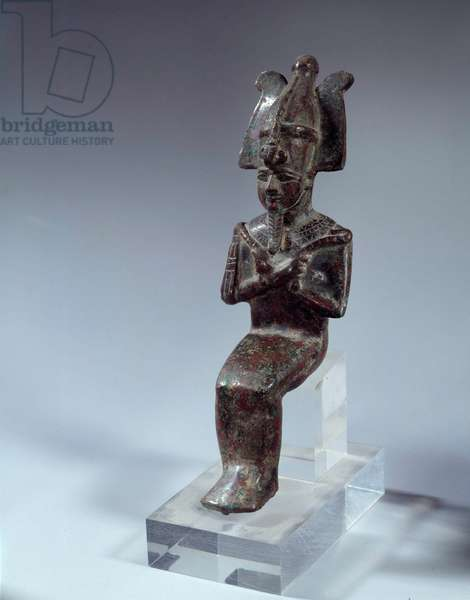 Egyptian antiquite: statue of Osiris from Tod. Ptolemaic period. Paris, Louvre Museum