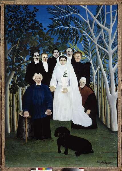 The wedding around 1905. Painting by Henri Rousseau dit Le Douanier (1844-1910), 1905. Oil on canvas. Dim: 1,63 x 1,14m. Paris, Musee de l'Orangerie