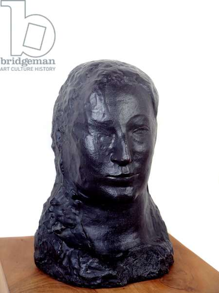Head of woman (Fernande). Bronze sculpture by Pablo Picasso (1881-1973), 1906. Paris, Musee Picasso.
