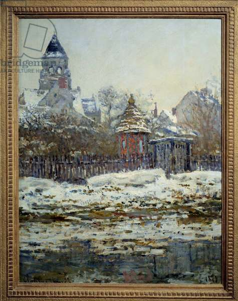 The church of Vetheuil. Painting by Claude Monet (1840-1926), 1879. Oil on canvas. Dim: 0.65 x 0.50m. Paris, Musee D'Orsay