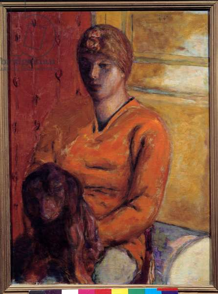 The dog woman. Painting by Pierre Bonnard (1867-1947), 20th century. Grenoble, Musee des Beaux Arts.