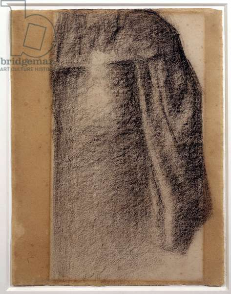 Study of skirt for a Sunday at the Grande Jatte Drawing a black chalk by Georges Seurat (1859-1891) 1885 Sun. 0,3x0,17 m Paris, Musee Picasso