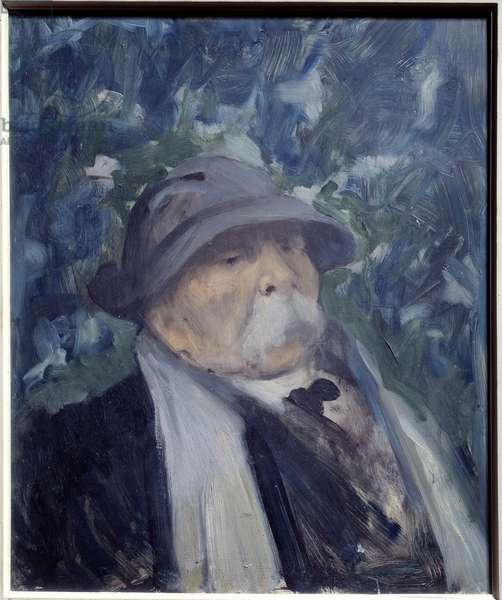 Portrait of Georges Clemenceau (1841-1929) politician. Painting by Raymond Woog (1875-1949), 20th century. Oil on wood. Dim: 0.45 x 0.38m. Paris, Musee Carnavalet. Careful! Use of this work may be subject to a third party authorization request or additional fees