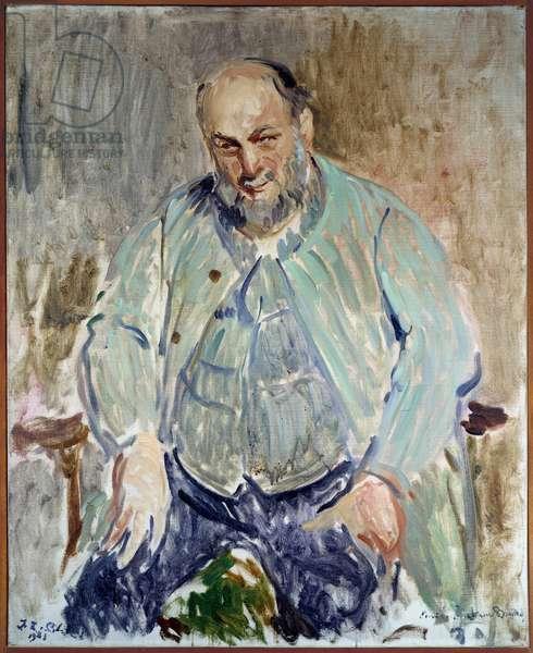 Portrait of the French sculptor Antoine Bourdelle (1861-1929) Painting by Jacques Emile (Jacques-Emile) Blanche (1861-1942), 1923. Dim. 0,98 x 0,8 m. Rouen musee des Beaux Arts