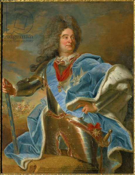 Portrait of the marechal of Villars (1653-1734) even of France Painting by Hyacinthe Rigaud (1659-1743) 18th century Chateau de Vaux le Viscount.