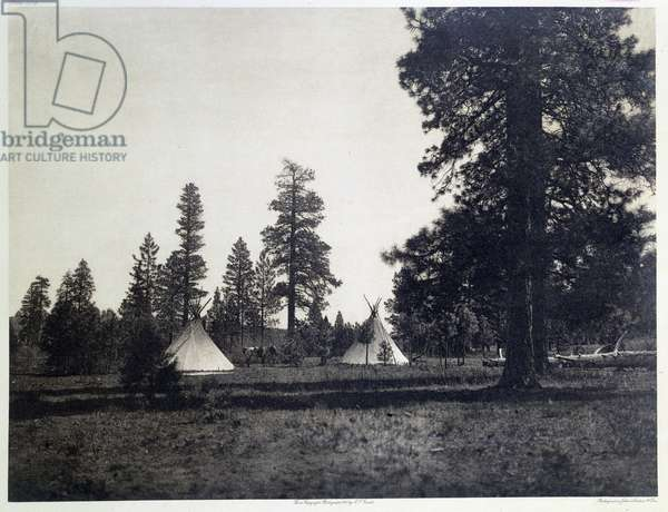 American Indians: view of a mountain camp of the Yakima tribe