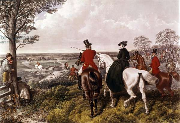 The Depart for the Fox Hunt Print John Frederick Herring (1795-1865) 1870 Private Collection