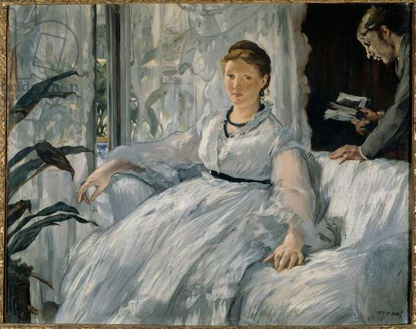 Reading Painting by Edouard Manet (1832-1883) 1865 Sun. 0,6x0,73 m Paris, musee d'Orsay