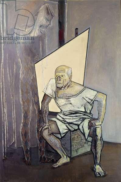 Portrait of Pablo Picasso, 1956 (oil on canvas)