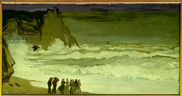 Grosse mer a Etretat Painting by Claude Monet (1840-1926) 1868 Sun. 0,66x1,31 m Paris, musee d'Orsay