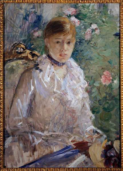 Summer or Portrait of Girl Painting by Berthe Morisot (1841-1895) 1880 Sun. 0.76 x 0.61 m. Montpellier, Fabre Museum