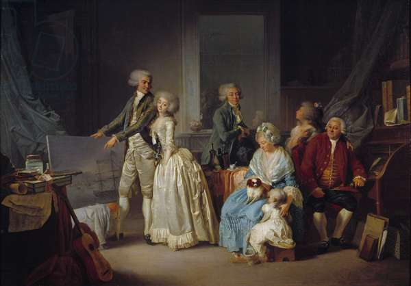 The Gohin Family Painting by Louis Leopold Boilly (1761-1845) 1787 Paris, Decorative Arts