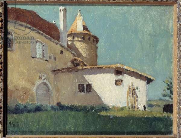 Le chateau de Virieu ou maison à la Tourelle Painting by Pierre Bonnard (1867-1947) 1888 Sun. 0,19x0,29 m Private collection
