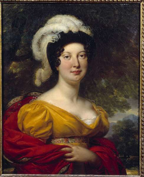 Portrait of Marechal Lannes, Duchess of Montebello Painting by Antoine Jean Gros (1771-1835) Around 1815 Orleans, Musee des Beaux Arts