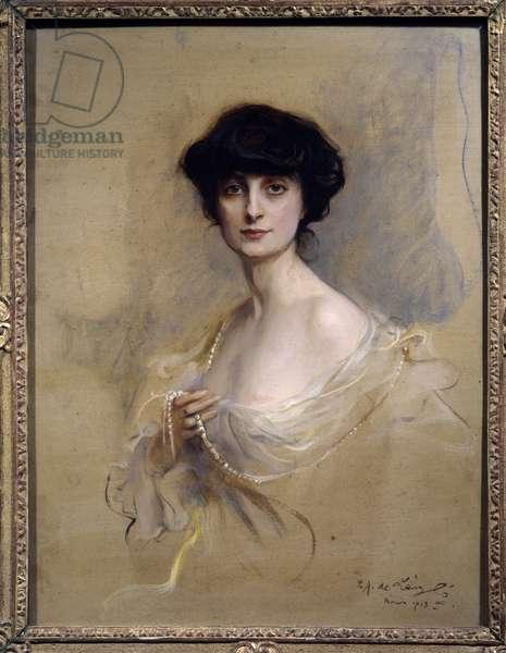 Portrait of Anna de Brancovan Comtesse Mathieu de Noailles (1876-1933) Anna de Noailles is a French woman of letters. Painting by Philip Alexis de Laszlo (1869-1937) 1913 Paris, Musee d'Orsay.