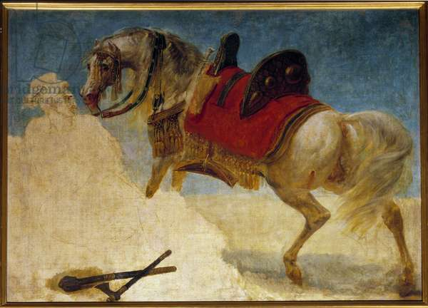 Study of horse harness Painting by Antoine Jean Gros (1771-1835) 19th century Sun. 0,97x1,3 m Paris, Musee du Louvre