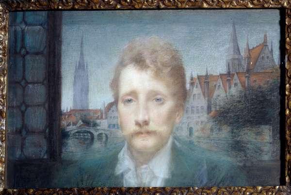 Portrait of Georges Rodenbach, Belgian poet (1855-1898) 1895 (pastel)