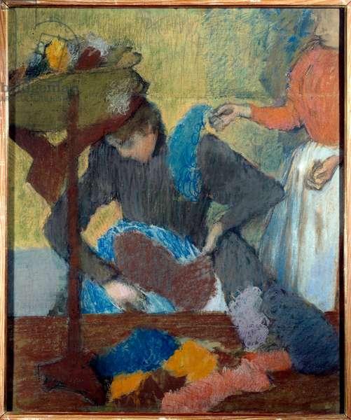 Chez la modist Pastel d'Edgar Degas (1834-1917) 1898 Sun. 0,91x0,75 m Paris, musee d'Orsay